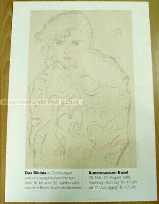 $ CDN203.12 • Buy Swiss EXHIBITION POSTER 1988 - GUSTAV KLIMT - RIA MUNK - THE PICTURE IN DRAWINGS