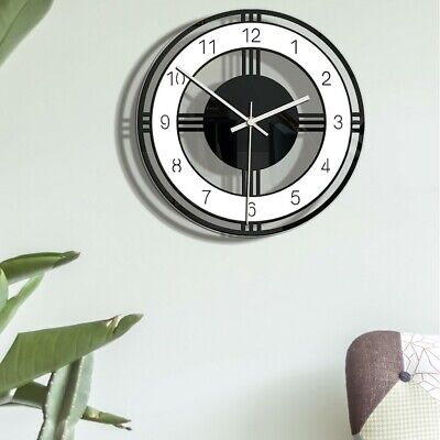 AU33.71 • Buy Nordic Style Wall Clock Silent Transparent Acrylic Clock Home Living Room