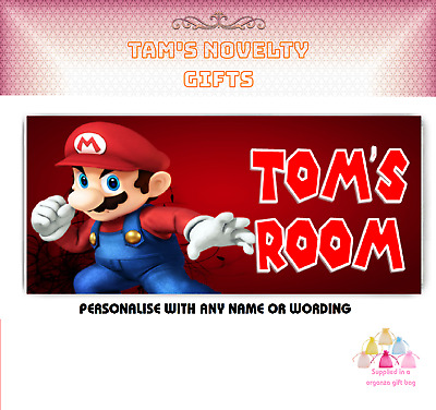 £3.99 • Buy Super Mario Personalised Children's Bedroom Sign Boys Girls ANY NAME / WORDING
