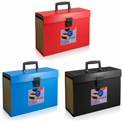 A4 Home File Storage Box Lockable Security Boxes Document Paper Organiser • 7.45£