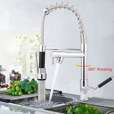 New 31cm Tall Waterfall Bathroom Basin Mixer Tap Counter Top Brass Chrome Faucet • 23.99£