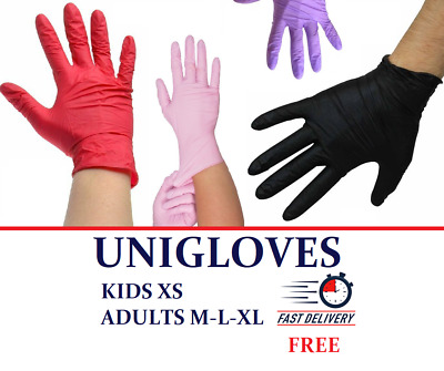 Nitrile Disposable Gloves Powder Free KIDS XS ✅Adults SM LXL ✅Extremely Cute ✅ • 7.45£