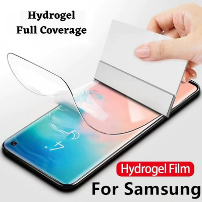 For SAMSUNG Galaxy S20 S10 8 9 Plus 5G NOTE TPU Hydrogel FILM Screen Protector • 1.99£