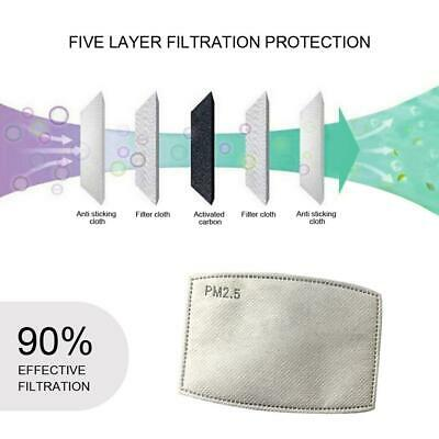 $ CDN13.59 • Buy 10/20 PCS PM2.5 Adult 5 Layer Activated Carbon Face Mask Filter Replacements%