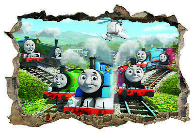Thomas The Tank Engine,Kids,Sticker,Decal,Bedroom,3d,Trains,Wall Art,Mural • 3.99£