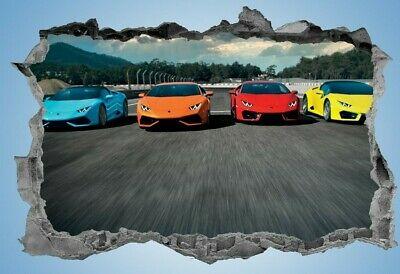 Sports Cars,Sticker,Decal,Race Cars,3d,Bedroom,Super Cars,Wall Art,Mural • 3.99£
