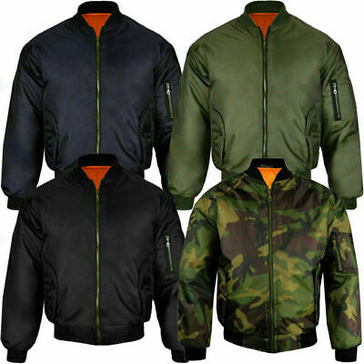 $32.41 • Buy MA1 Mens Classic Bomber Jacket Military Air Force Style Padded Biker Jacket S 5X