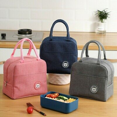 AU13.94 • Buy Unisex Portable Lunch Bag Insulated Thermal Cooler Box Carry Tote Travel Bag AU