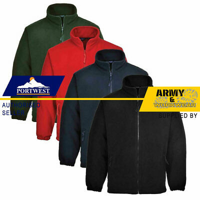 Portwest Argyll Heavy Fleece Jacket Thermal Insulated Zip Jumper Anti Pill  • 14.95£