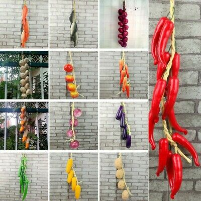 1pc Artificial Vegetable Fish String Home Kitchen Farm Hanging Decoration Gift • 4.25£