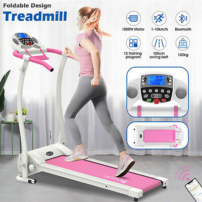 AU369.90 • Buy ElectricTreadmill Incline Fitness Equipment Home Gym Run Exercise Machine Pink
