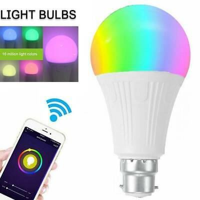 AU17.95 • Buy B22 WiFi Smart LED Light Bulb Globe For Alexa Google Home Multicolor Lamp RGB