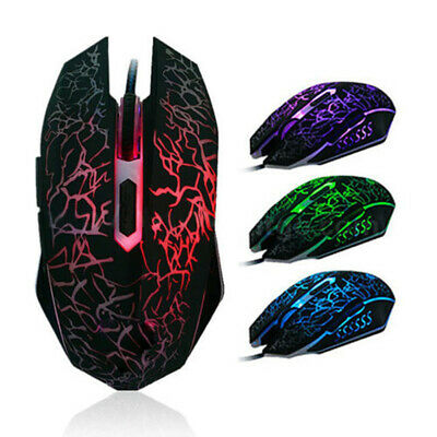 AU11.56 • Buy Cool 4000 DPI Mice 6 LED Buttons Wired USB Optical Gaming Mouse To Pro Gamer Au