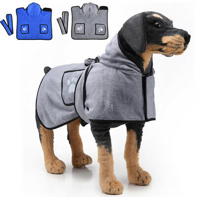 £14.27 • Buy Quick-Drying Micro Dog Towels Absorbent Pets Cat Bathrobe Gown Robe Hooded Coat