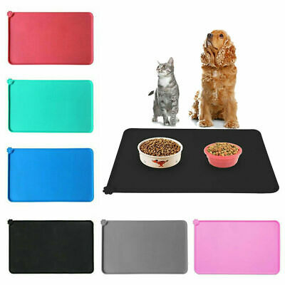 Pet Puppy Silicone Waterproof Feeding Food Mat Dog Cat Non Slip Bowl Placemat UK • 4.89£