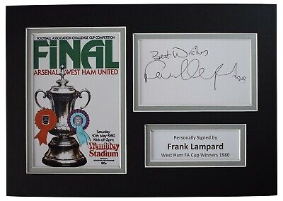 £19.99 • Buy Frank Lampard Signed Autograph A4 Photo Display West Ham United 1980 FA Cup COA
