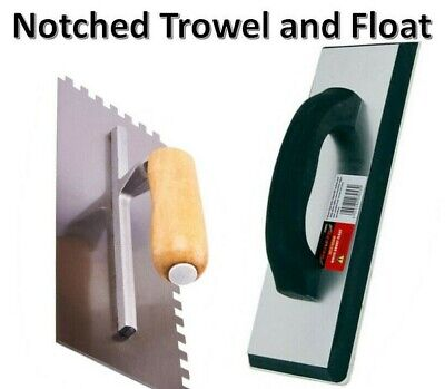 Tiling Tool Kit Grout Float Notched Tile Trowel Grouting Ceramic 1668 3053 • 9.99£