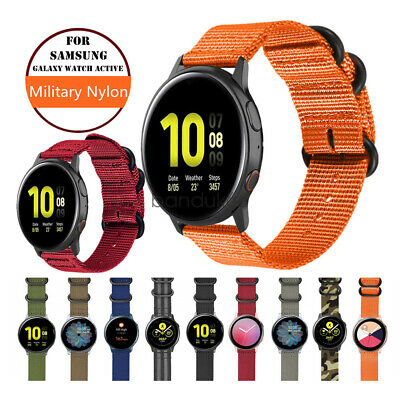 $8.99 • Buy Watch Band For Samsung Galaxy Watch Active2/1 Military Woven Nylon Wrist Strap