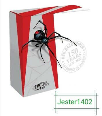 AU1250 • Buy Niue 2020 Dedly & Dangerous Red Back Spider $10 5oz Ag Proof Coin No: 325 Of 500