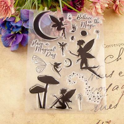 Clear Stamps Fairy Transparent Seal For DIY Scrapbooking Photo Card Making • 4.05£