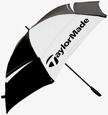 TaylorMade Tour Preferred 68 Inch Double Canopy Golf Umbrella, Black, One Size • 66.99£