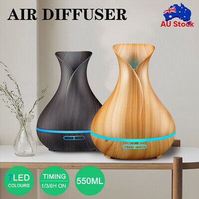 AU24.98 • Buy Aroma Aromatherapy Diffuser LED Essential Oil Ultrasonic Air Humidifier Purifier