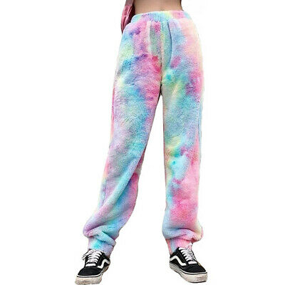 $ CDN30.72 • Buy Kawaii Clothing Rainbow Pants Gradient Dye Tie Sweatpants Harajuku Trousers Cute