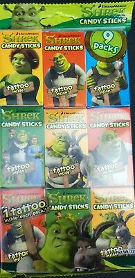 £3.99 • Buy 9x 16gm Boxes Shrek Candy Sticks With Free Temporary Tattoo In Each Box