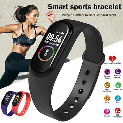 $ CDN6.70 • Buy M4 Smart Watch Band Heart Rate Blood-Pressure Monitor  Fitness Wristband-