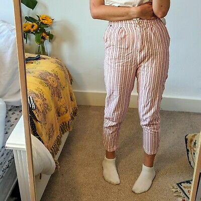 Small Pink Striped Pull And Bear Trousers! ⚡ • 8£