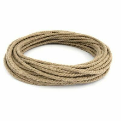 6mm Thick 30ft /9m Natural Jute Hessian Rope Cord Braided Twisted Sash Garden  • 3.99£