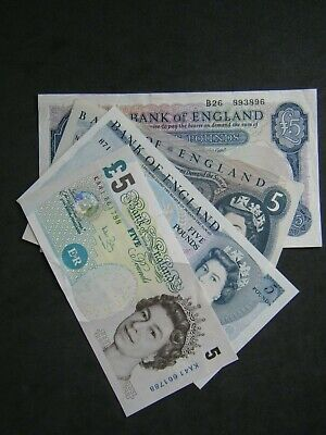 ENGLISH FIVE POUND NOTE £5 - 1957 To 2011 - Choose Your Cashier • 29.99£