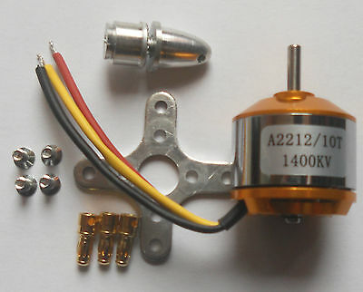 A2212 KV1400 Brushless Outrunner Motor For Multicopter RC Aircraft New In Packet • 6.99£