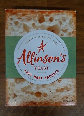 Allinsons Bread Making Yeast Sachets (6 X 7g)  Easy Bake, Free Postage • 3.99£