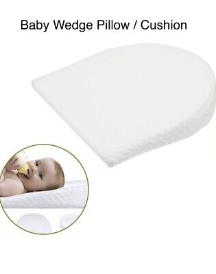 £9.90 • Buy Baby Wedge Pillow For Pram Anti Allergy With Washable Breathable Quilted Cover