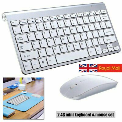 Ultra Thin 2.4GHz Wireless Keyboard Mouse Combo Kit Set For PC Laptop Computer • 11.90£