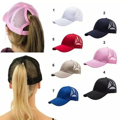 £5.49 • Buy Ladies Ponytail Baseball Cap,13 Colours,2 Working Days Delivery,adjustable Size.