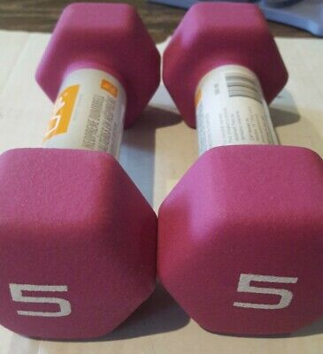 $ CDN40.23 • Buy CAP Hex Neoprene 5 Lb Pound Set Of Two Dumbbell Weights -New- IN HAND SHIPS NOW