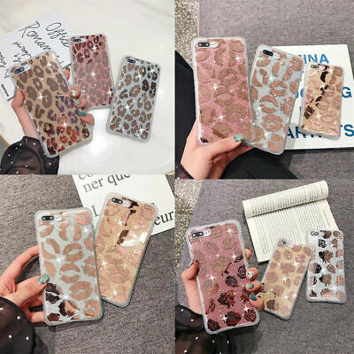 For IPhone 11 XS Max 6 7 8 XR Shockproof Soft Silicone Leopard Phone Case Cover • 3.65£