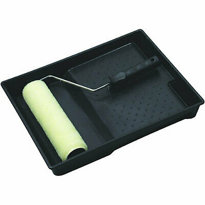 9  Paint Roller Set, Emulsion Sleeves, Cage Frame & Tray, DIY, Painting • 5.99£