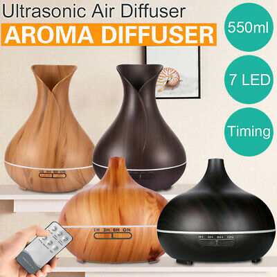 AU28.36 • Buy Aroma Aromatherapy Diffuser LED Essential Oil Ultrasonic Air Humidifier Purifier