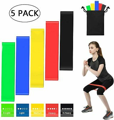 AU11.99 • Buy Resistance Bands Power Heavy Strength Exercise Fitness Gym Crossfit Yoga