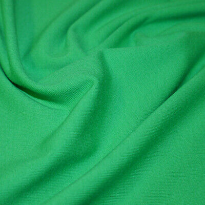 £5.25 • Buy Emerald Green Stretch Jersey Solid Fabric 95% Cotton 5% Lycra BY THE HALF METRE