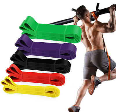 AU37.99 • Buy Heavy Duty Resistance Yoga Bands Loop Exercise Fitness Workout Band Gym