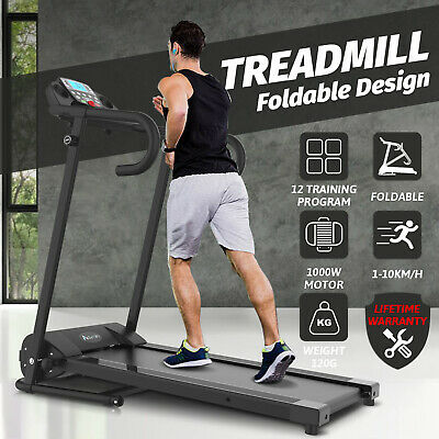 AU345.90 • Buy Electric Treadmill Incline Home Gym Run Exercise Machine Fitness Equipment Black