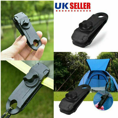 1/5/10/20 Reusable Tent Tarp Tarpaulin Clip Clamp Buckle Camping Tool Heavy Duty • 5.67£