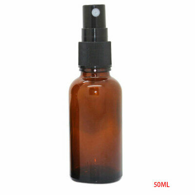 50ml Empty Spray Bottle Essential Oil Mist Container Refillable Perfume Atomizer • 2.45£
