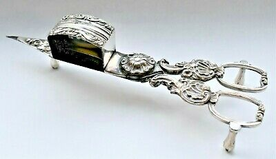 Antique English Silver Plated Victorian Electroplated Candle Snuffers 19cm Long • 74.50£