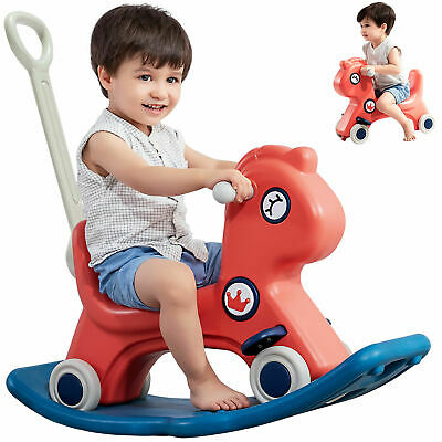 £45.99 • Buy Kids Rocking Horse Baby Push Scooter Pony Seat Rocker Sound Gift For 1-6 Age New