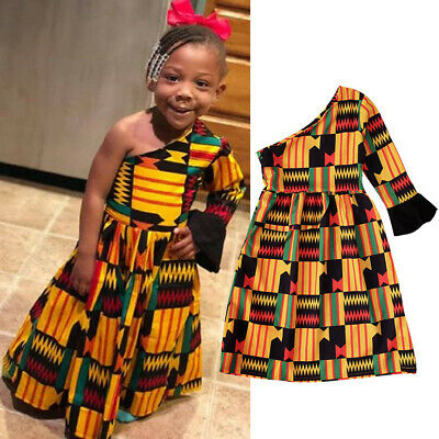 Dashiki African Print One Shoulder Dress....2 Size's ...24mths And 7-8yrs • 13.99£